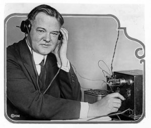Secretary Hoover had this small radio receiver installed in his home in order that he could better understand the complaints received by the Commerce Dept. from citizens with similar equipment.