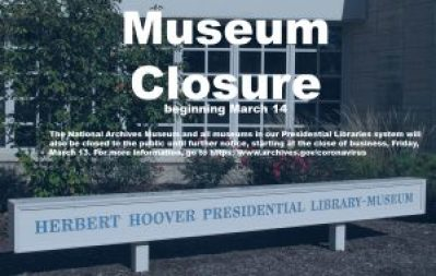 The Hoover Museum is closed due to Coronavirus (COVID-19) until further notice.