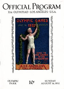 Official Program for the 1932 Olympics in Los Angeles, CA.