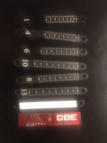 CBE yardage plates