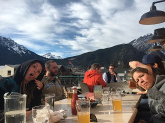 Post ski beers at the Rose and Crown pub in Banff