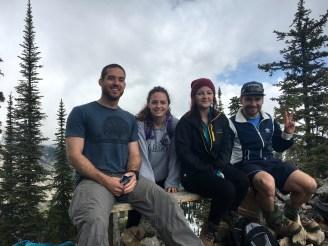 Bowen, Meg, Tristen and Marcus on top Mt Fernie