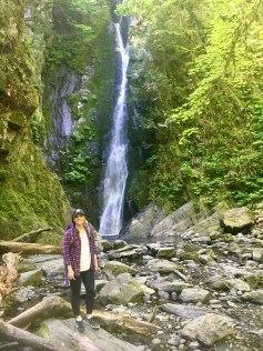 Waterfall in Goldstream park