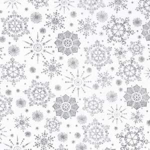 white silver snowflakes