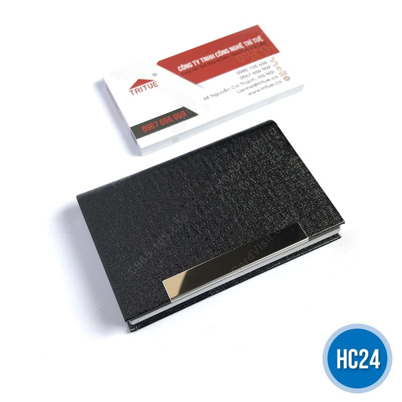 Ví đựng name card nữ giá rẻ màu đen HC24