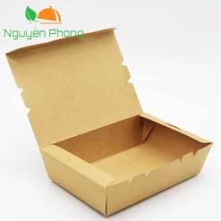 Hộp giấy đựng thức ăn nắp gập full