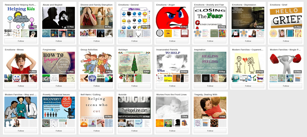 Pinterest and Hope 4 Hurting Kids