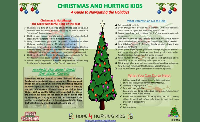 Christmas and Hurting Kids
