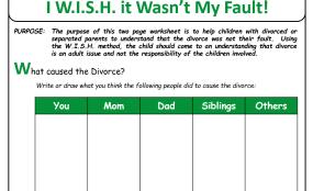 Parents' Divorce My Fault
