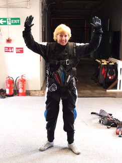 Nicola Kell about to skydive to raise funds
