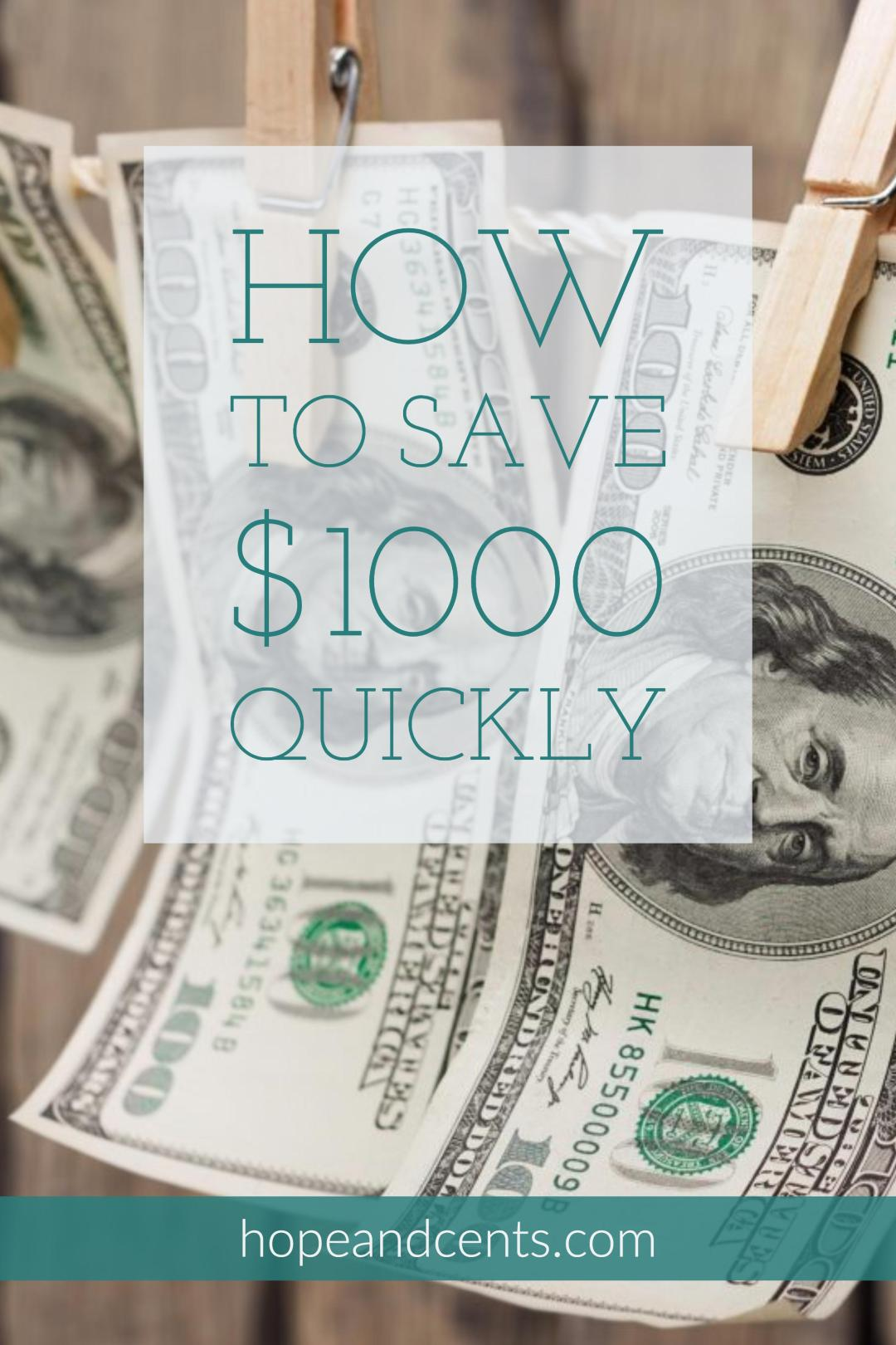 Need to save $1000? Need to save it quickly? Perhaps you need to start an emergency fund, you're saving for a vacation or a big purchase, or you want to invest it.