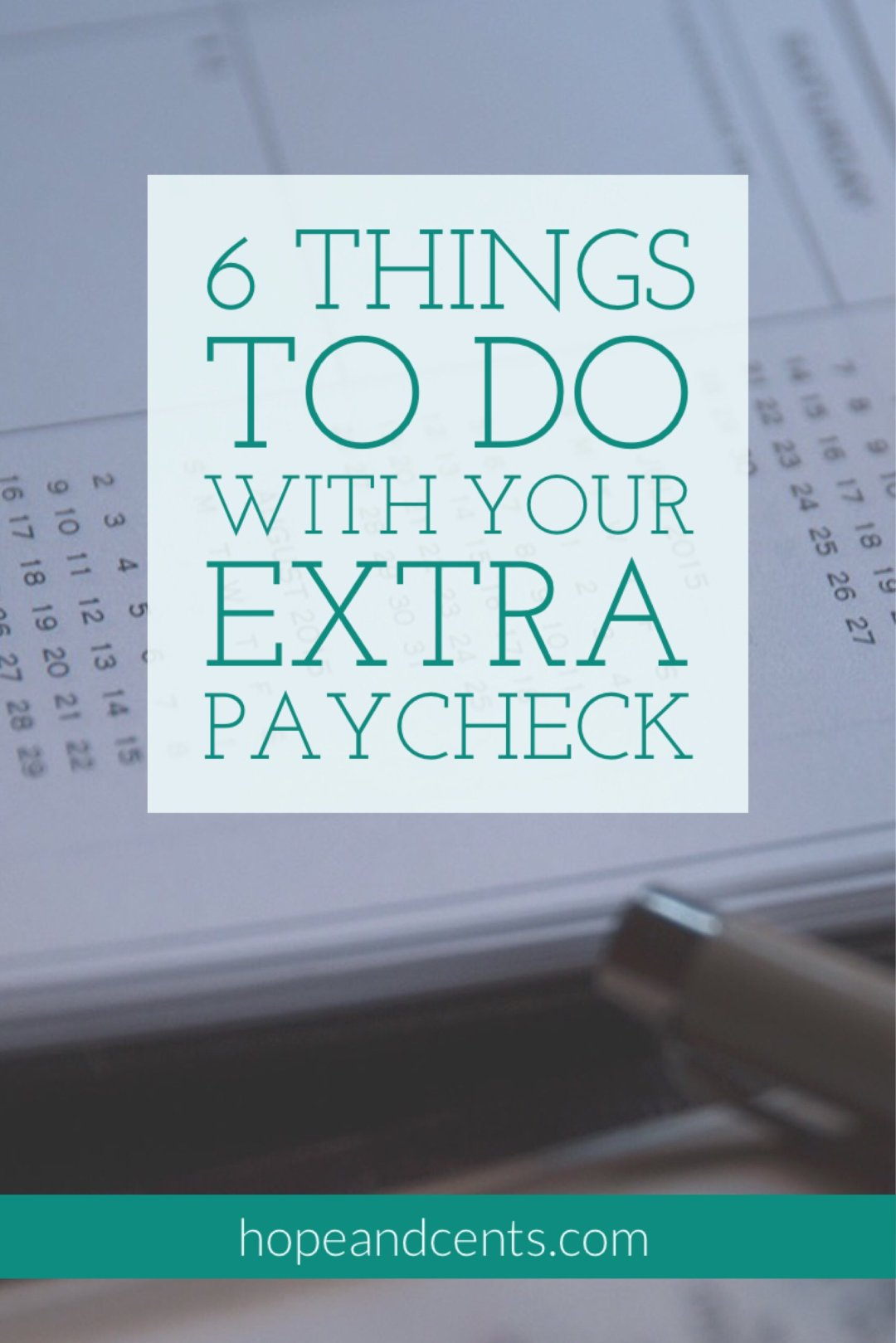 Without a plan, your extra paycheck can quickly disappear and this month will be like any other. It also might be tempting to celebrate your extra paycheck this month by buying that (fill-in-the-blank) you've had your eye on, but before you do...