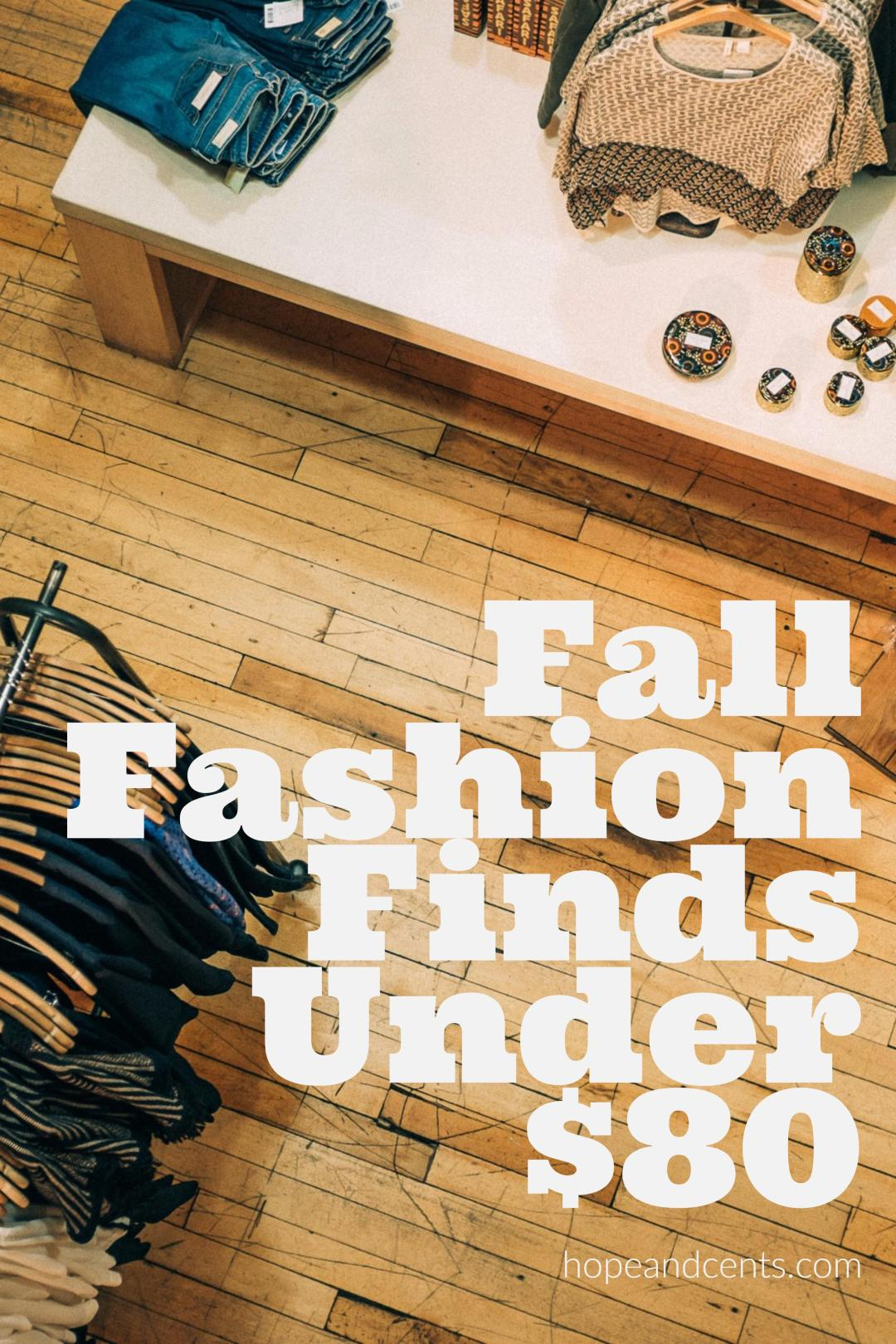Love these affordable fall fashion pieces. They're all under $80 including outerwear!