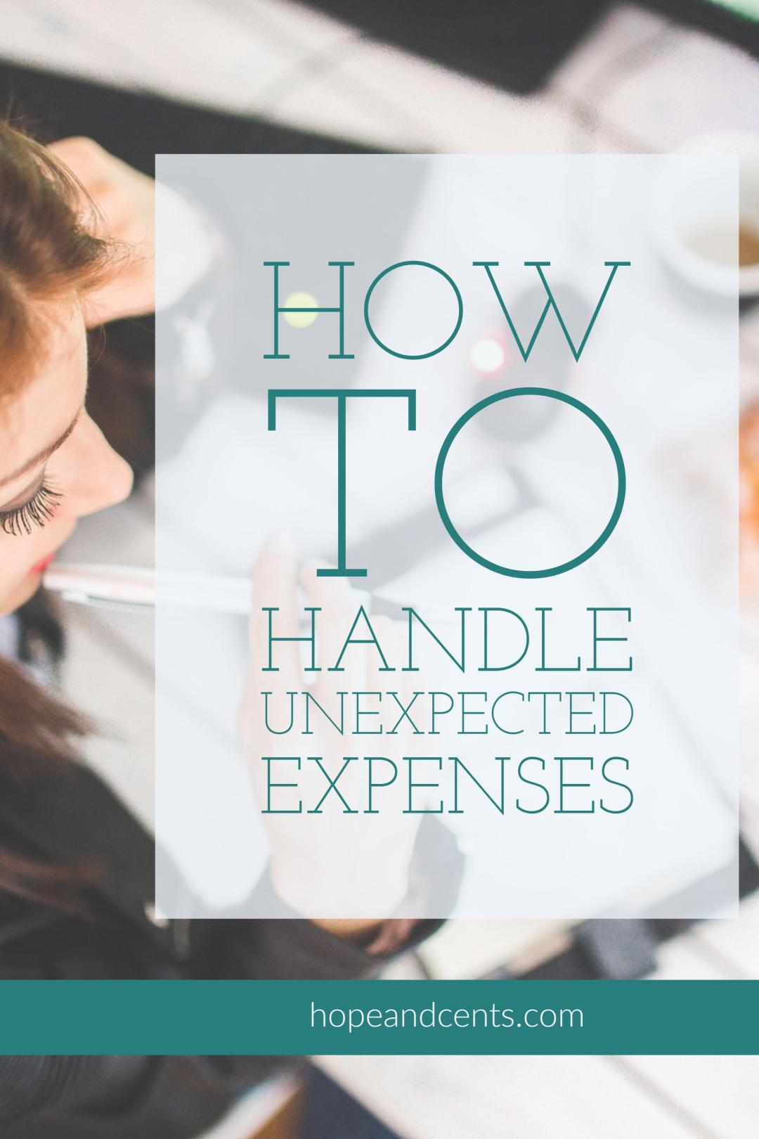 A common reason people give for not budgeting is that unexpected expenses always come up which prevent them from following the budget.