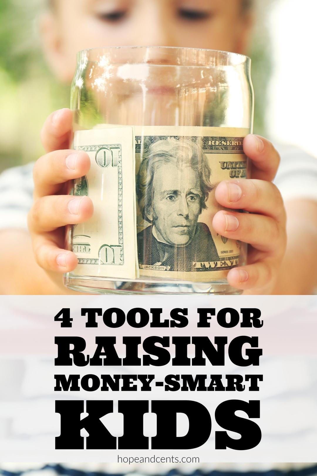 Love these tools for teaching kids about money. It's never too early to teach children to be frugal and to set them up to be debt-free.
