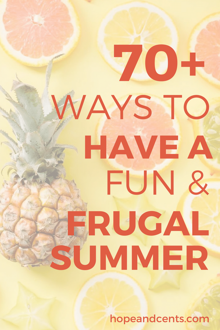 Are you looking for some frugal summer ideas? From things to do at home to inexpensive activities on-the-go, there are tons of things you can do that are fun but won\'t break the bank. You\'ll love these budget-friendly summer ideas.   | summer ideas | family-friendly activities | staycation |  #furgalliving #money #personalfinance