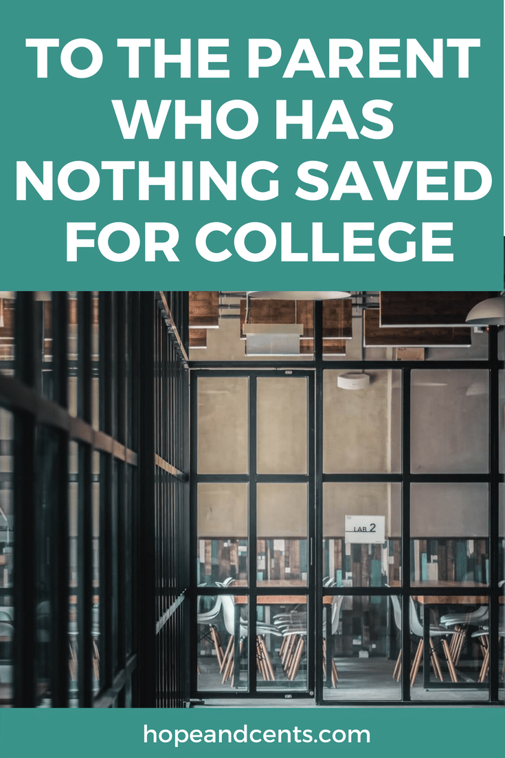 Is your son or daughter about to enter college but you have practically nothing saved? You are not alone. And you have options. Learn how you and your child can navigate funding college in a healthy way. | saving for college | student loans | dumping debt | #FinHealthMatters #personalfinance #moneytips #debt