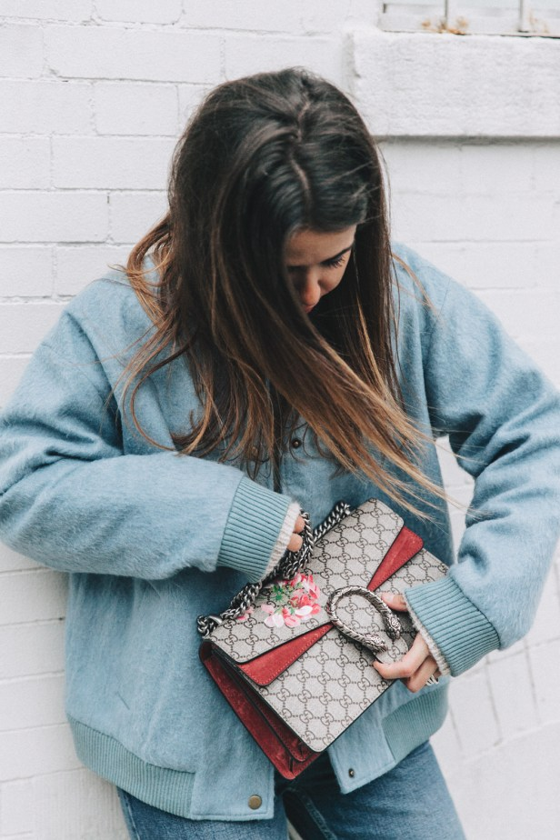 Blue_Bomber-Ganni-Topshop_Jeans-White_Boots-Gucci_Bag-Outfit-NYFW-New_York-Street_Style-