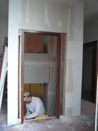 removing old door frame