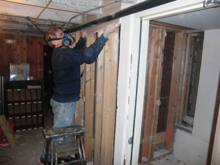 basement demo work