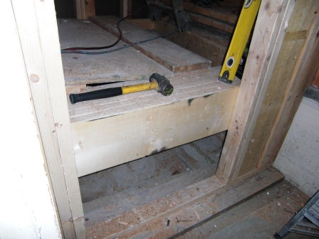 new footing and structural framing