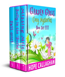 Download Garden Girls Cozy Mysteries Series Box Set III - Books 7-9, contains the first 3 books in the Garden Girl Cozy Mysteries Series by Author Hope Callaghan.