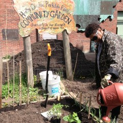 Zorida Fills Her Garden