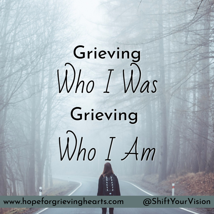 The losses of who we are and who we used to be are things most people don't associate with grief. Thankfully God's comfort brings HOPE and cheer.