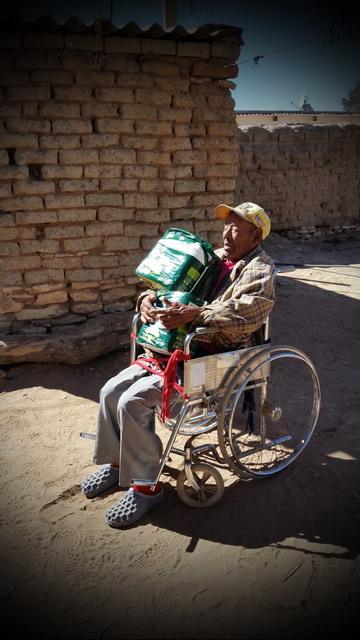 elderly wheelchair bound