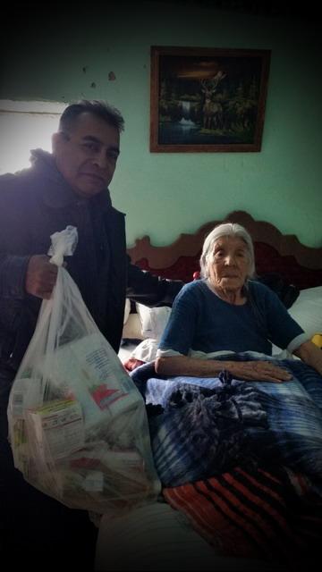 elderly woman bedfast