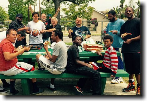 Sharing Jesus and pizza with gang members and potential gang members