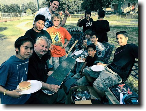 outreach with the kids in the skateboard park we had a couple that received Jesus