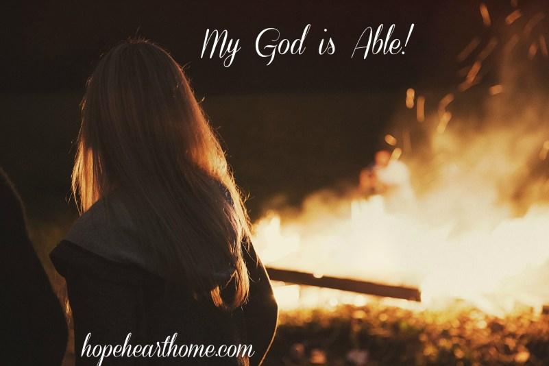 HHH My God is Able Bonfire