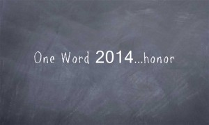 One-Word-2014honor