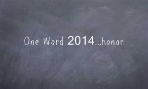 One-Word-2014honor