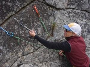 Rock climb anchors