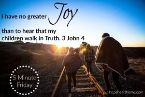 five minute friday: joy