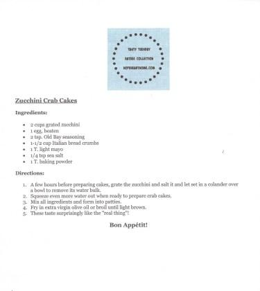 HHH Zucchini Crab Cakes