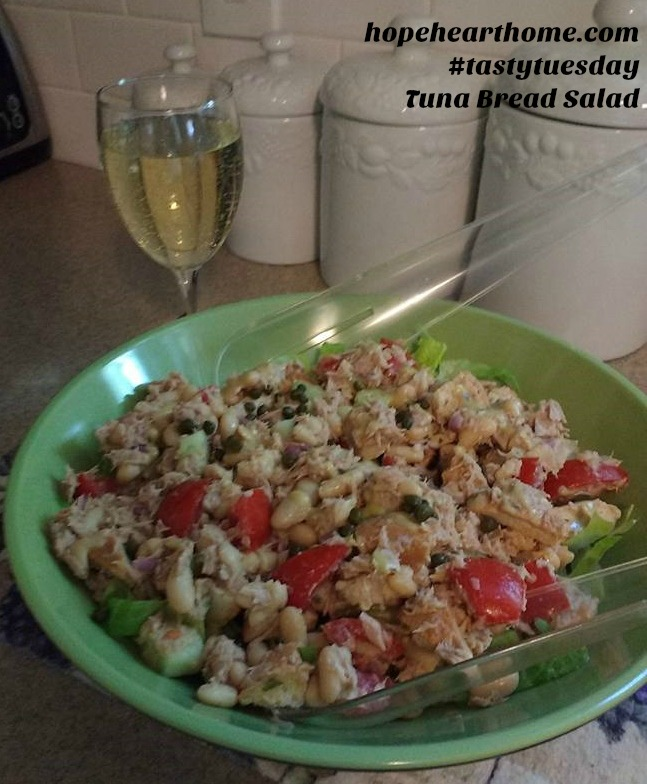 Tasty Tuesday Tuna Bread Salad