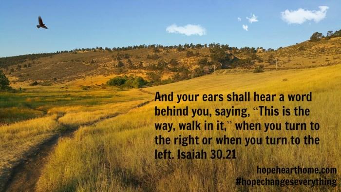 Quietude Isaiah 30_21