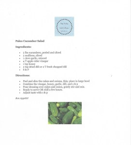 Tasty Tuesday Paleo Cuke Salad image