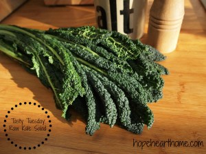tasty tuesday: ron's raw kale salad