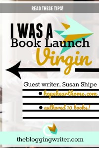 True Confessions: I was a book launch virgin!