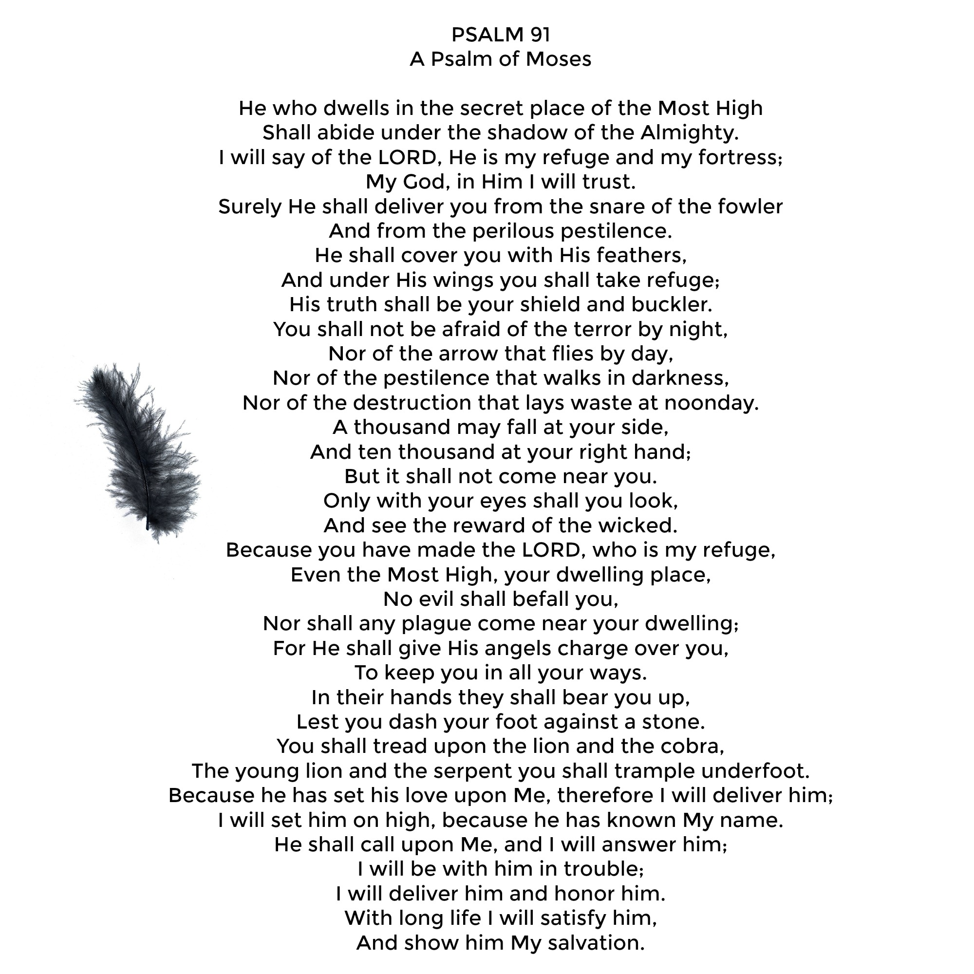 Psalm 91 Printables | Encouragement | Hope | Women | Living Today