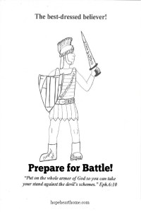 We must be armed and prepared for battle!