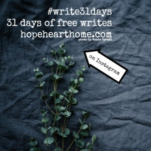 31 Days of Free Writes – 2018