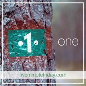 Five Minute Friday - ONE