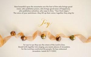 Advent Sunday of JOY