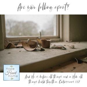 Are you falling apart?