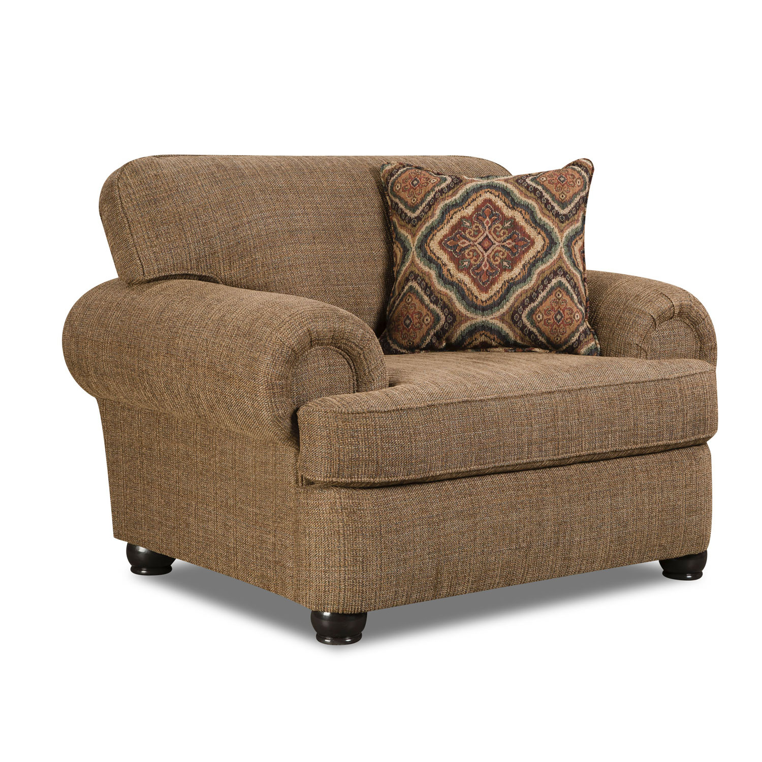Simmons Beautyrest ChairBRC Amp Ottoman 7533BRO Shelby Multi